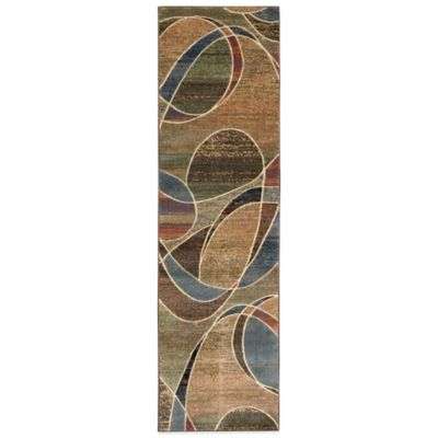 Nourison Expressions Abstract 2-Foot 3-Inch x 8-Foot Runner in Multicolor
