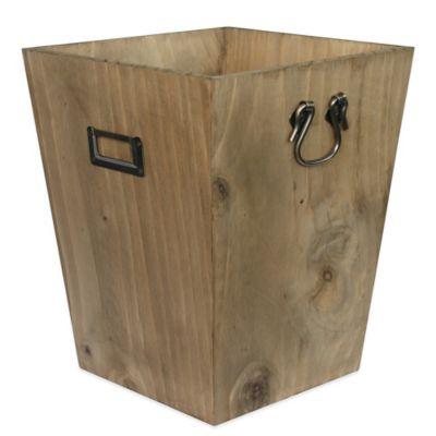 Wood Wastebasket