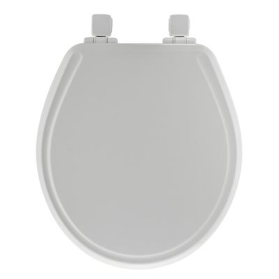 Mayfair Round Molded Wood Whisper Close® Toilet Seat in White