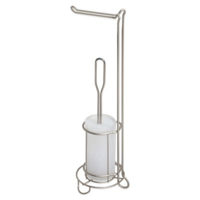 Classico Toilet Tissue Stand/Bowl Brush in Satin White