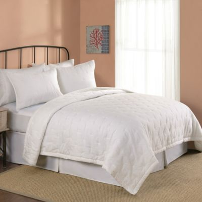 Opal Standard Pillow Sham in White