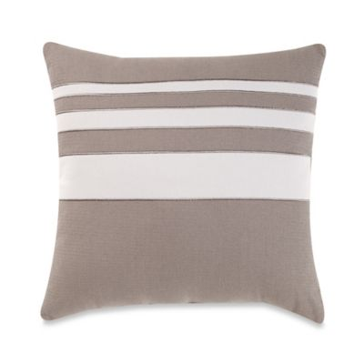 Brooklyn Loom St. Albans Yarn Dye Stripe Square Throw Pillow in Grey
