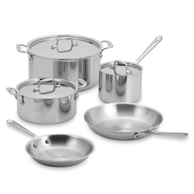All-Clad Stainless Steel 8-Piece Cookware Set
