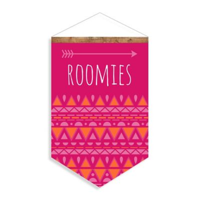 """Roomies"" Canvas Wall Banner"