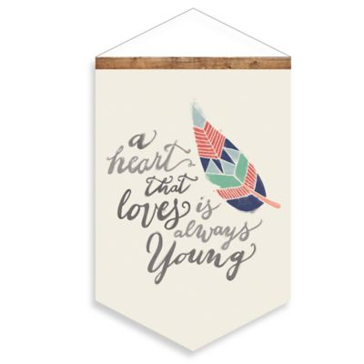 Young Heart Canvas Wall Banner
