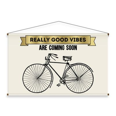 """Really Good Vibes"" Canvas Wall Banner"