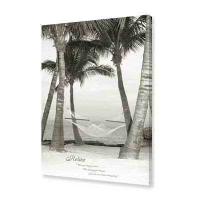 Relaxing Palm Tree at the Beach Canvas Wall Art