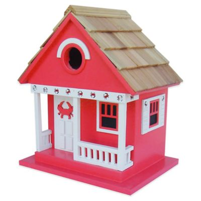 Home Bazaar Beachcomber Crab Cottage Birdhouse