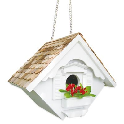 Home Bazaar Little Wren Birdhouse in White