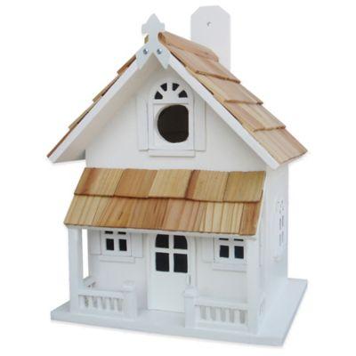Home Bazaar Victorian Cottage Birdhouse in White