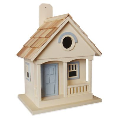 Home Bazaar Pacific Grove Birdhouse in Yellow/Light Blue