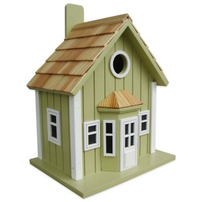 Home Bazaar Parkside Cottage Birdhouse in Green