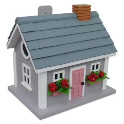 Home Bazaar Vineyard Cottage Birdhouse in Grey