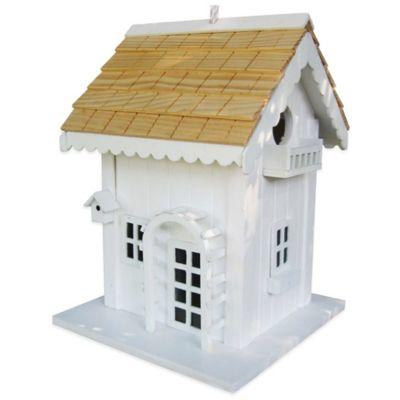 Home Bazaar Arbor Cottage Birdhouse in White