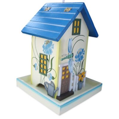 Home Bazaar Dragonfly Birdfeeder in Blue