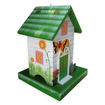 Home Bazaar Butterfly Birdfeeder in Dark Green