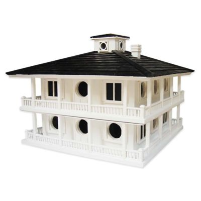 Home Bazaar Clubhouse Birdhouse for Purple Martins in White