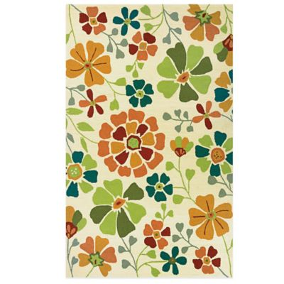Couristan® Beachfront Collection Poppy Field 2-Foot x 4-Foot Rug
