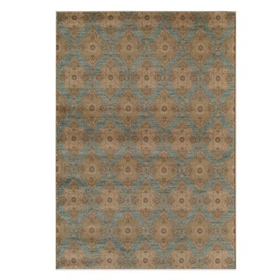 Rugs America Rallye Diamonds 3-Foot 11-Inch x 5-Foot 3-Inch Rug in Blue