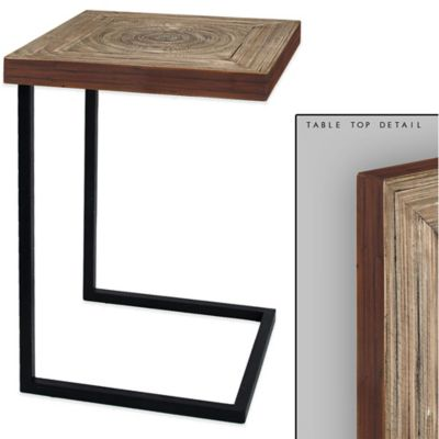Lacquer Asian Bamboo C-Table