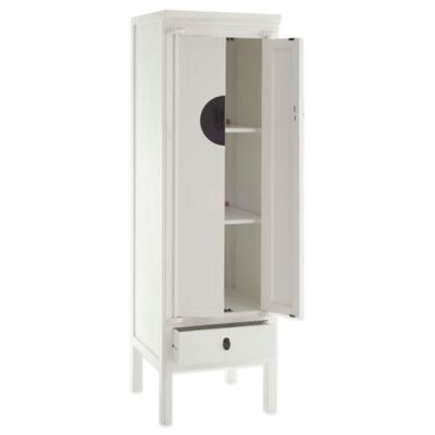 Safavieh Narrow Wedding Cabinet in Antique White