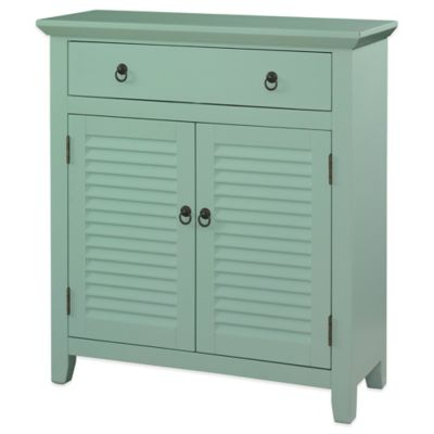 Powell Shutter Door Cabinet in Blue