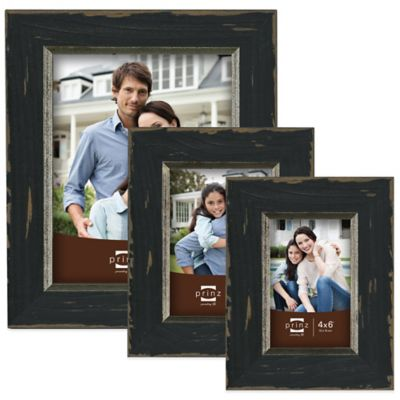 Prinz Crawford 4-Inch x 6-Inch Wood Picture Frame in Black