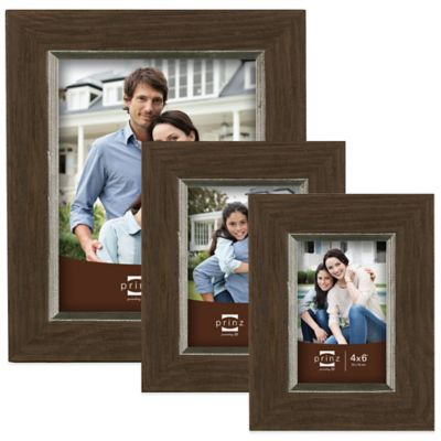 Prinz Crawford 4-Inch x 6-Inch Wood Picture Frame in Brown