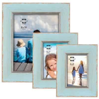 Prinz Clearwater 4-Inch x 6-Inch Wood Picture Frame in Blue