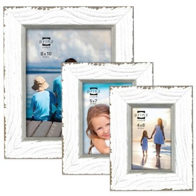 Prinz Clearwater 4-Inch x 6-Inch Wood Picture Frame in White