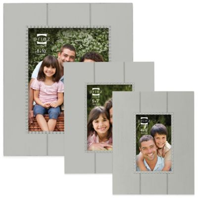 Prinz Parson 4-Inch x 6-Inch Wood Picture Frame in Grey