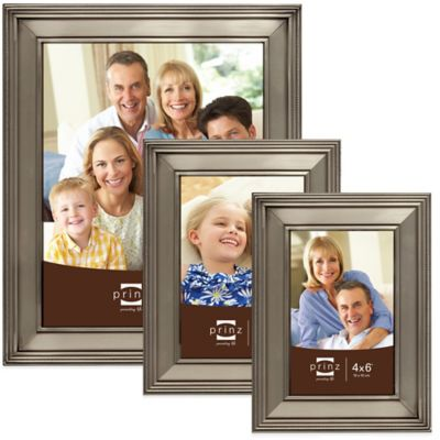 Prinz Clybourn 5-Inch x 7-Inch Metal Picture Frame in Matte Pewter