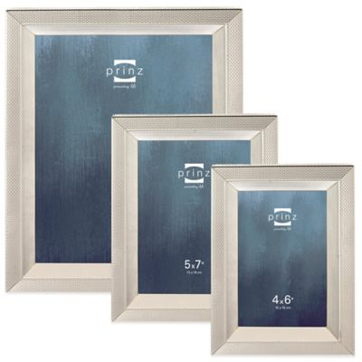 Prinz Sheridan 5-Inch x 7-Inch Metal Picture Frame in Silver