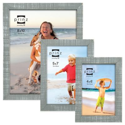Prinz Sweet Water 4-Inch x 6-Inch Wood Picture Frame in Grey