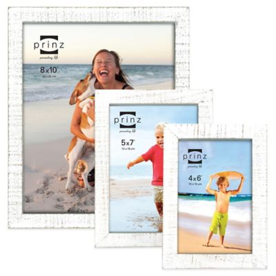 Prinz Sweet Water 4-Inch x 6-Inch Wood Picture Frame in White