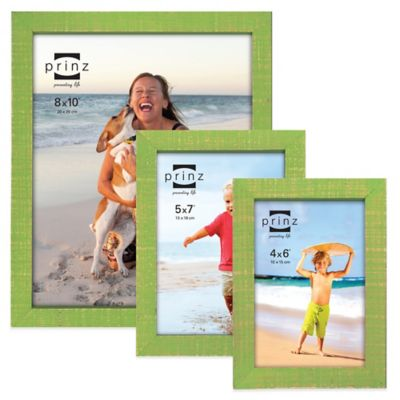 Prinz Sweet Water 4-Inch x 6-Inch Wood Picture Frame in Green