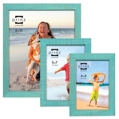 Prinz Sweet Water 4-Inch x 6-Inch Wood Picture Frame in Aqua