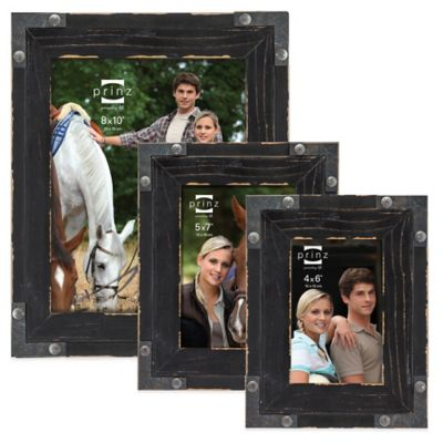 Prinz Brody 4-Inch x 6-Inch Wood Picture Frame in Black