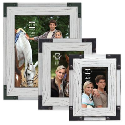 Prinz Brody 5-Inch x 7-Inch Wood Picture Frame in White