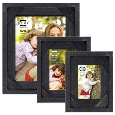 Distressed Black Picture Frames