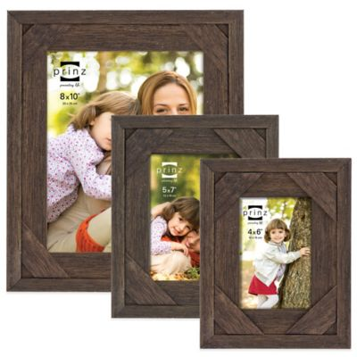 Prinz Barnes 8-Inch x 10 Inch Distressed Barnwood Picture Frame in Antique Brown