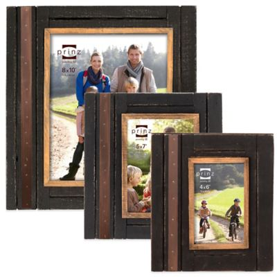 Prinz Woodlands 4-Inch x 6-Inch Picture Frame in Black