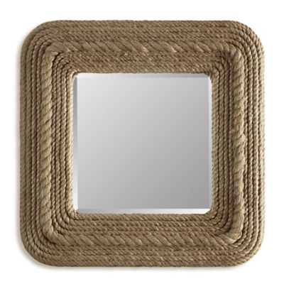 Stein World Crescent Key 28-Inch x 28-Inch Rope Accented Mirror