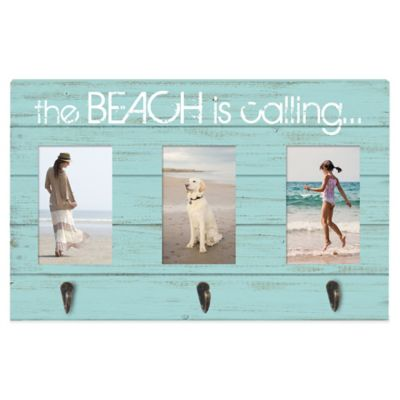 "Prinz Sea Breeze 3-Photo ""The Beach is Calling..."" Collage Frame with Hooks"