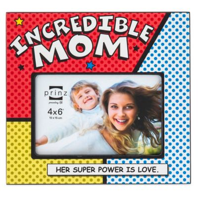 "Prinz Dynamic Duos 4-Inch x 6-Inch ""Incredible Mom"" Picture Frame"