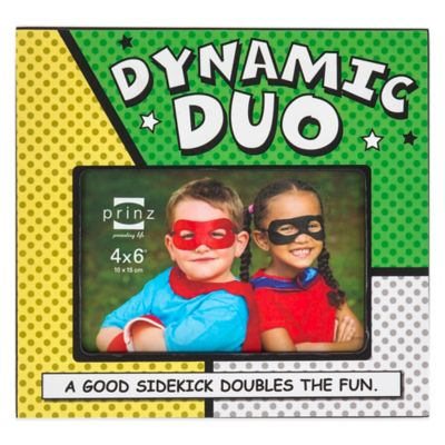 "Prinz ""Dynamic Duo"" 4-Inch x 6-Inch Picture Frame"