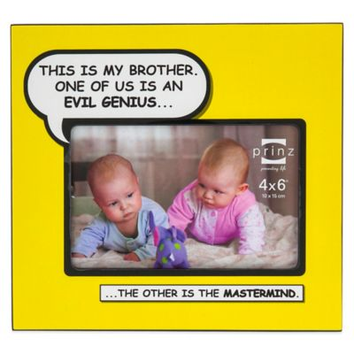 Prinz Enough Said 4-Inch x 6-Inch Brother Picture Frame in Yellow