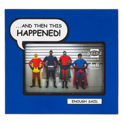 "Prinz Enough Said 4-Inch x 6-Inch ""This Happened"" Picture Frame in Purple"