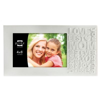 Prinz Together Time 4-Inch x 6-Inch Mom Picture Frame in Matte White