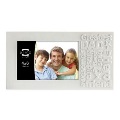 Prinz Together Time 4-Inch x 6-Inch Dad Picture Frame in Matte White